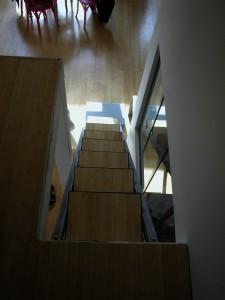 L'escalier depuis la mezzanine