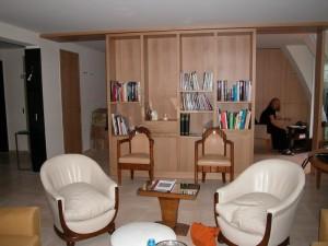 Bibliothèque cloison en chêne